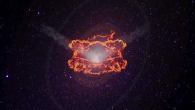 Meteoritos que caen de espacio stock de ilustración