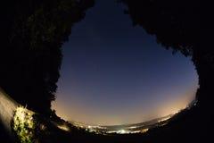 Meteornächtlicher himmel Stockbild
