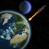 Meteoro da terra Fotografia de Stock