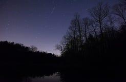 Meteoro de Geminid Foto de Stock