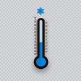 Meteorologia termometry odizolowywający Zimna i upału temperatura również zwrócić corel ilustracji wektora celsius termometry Fah royalty ilustracja