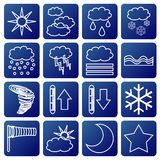 Meteorologic symbols Royalty Free Stock Photography