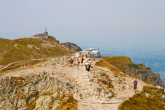 Meteorological observatory and cable car station on Kasprowy Wie Royalty Free Stock Photography