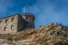 Meteorological observatory on Kasprowy Wierch in Polish Tatras Mounatins - National Park. stock image