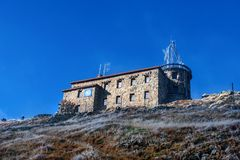 Meteorological observatory on Kasprowy Wierch in Polish Tatras Mounatins - National Park. royalty free stock image