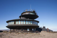 Meteorological Observatory and Shelter on Sniezka Mountain Royalty Free Stock Photography