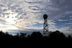 Meteorological radar tower Stock Images