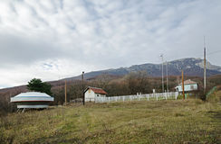 Meteorological station in Crimean mountains Royalty Free Stock Photography