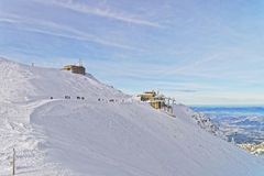Meteorological station in Kasprowy Wierch in Zakopane in winter Royalty Free Stock Images