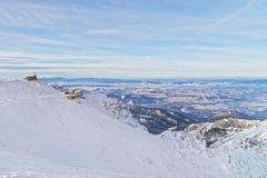 Meteorological station on Kasprowy Wierch in Zakopane in winter Royalty Free Stock Photos