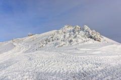 Meteorological station in Kasprowy Wierch in Zakopane  in winter Royalty Free Stock Photos