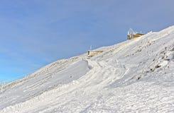 Meteorological station in Kasprowy Wierch of Zakopane  in winter Royalty Free Stock Images