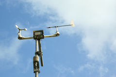 Meteorological station and tools. Stock Photos