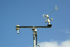 Meteorological station and tools. Royalty Free Stock Photography