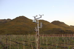 Meteorological station at vinery Stock Photo