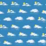 Meteorological Symbols, Seamless Royalty Free Stock Image