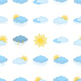 Meteorological symbols, seamless Royalty Free Stock Images