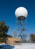 Meteorological Tower. A meteorological tower used for studying the atmosphere and weather patterns stock image