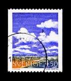 Meteorologie - Cumulus, serie, circa 1960 royalty-vrije stock afbeeldingen