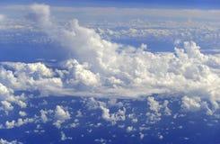 Meteorologie, Weerpatroon met cumuluswolken royalty-vrije stock foto's
