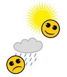 Meteorologieikonen Lizenzfreies Stockbild
