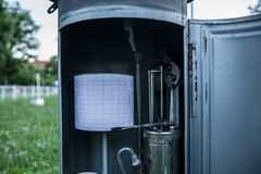 Meteorologisch Instrument voor weer ` die s bij Meteorologische post in Belgrado berekenen Royalty-vrije Stock Foto's