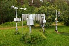 Meteorologische instrumenten Stock Foto's
