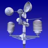 Meteorologische weatherstation Royalty-vrije Stock Foto's