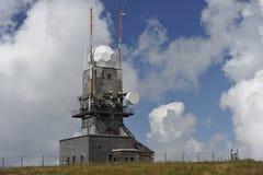 Meteorologisk station på Feldbergen, Tyskland Royaltyfria Bilder
