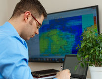 Meteorologist. Royalty Free Stock Photography