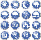 Meteorology icon set Stock Images
