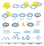 Meteorology  icons Stock Image