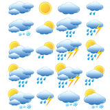 Meteorology set. Royalty Free Stock Photos