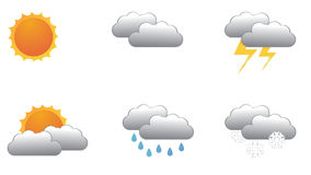 Meteorology symbols Stock Photography