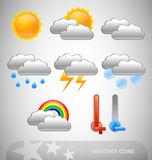 Meteorology symbols Royalty Free Stock Images