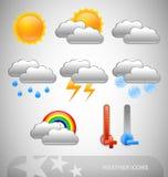 Meteorology symbols Royalty Free Stock Images