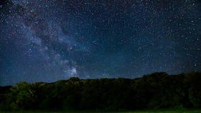 Meteorowa prysznic, Milky sposobu galaxy czasu upływ zdjęcie wideo