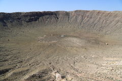 Meteorowy krater Obraz Stock