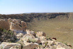 Meteorowy krater Obrazy Royalty Free