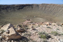 Meteorowy krater Obraz Royalty Free