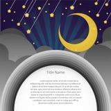 Meteorowy nocy tło z pustą przestrzenią dla próbka teksta. Zdjęcie Stock