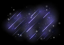 Meteors lights Royalty Free Stock Photo