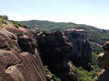 Meteors monasteries in Greece Royalty Free Stock Image