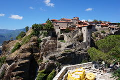 Meteors monasteries in Greece Stock Images