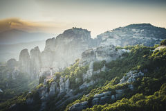 Meteors monasteries in Greece Royalty Free Stock Photos