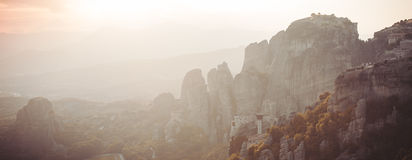 Meteors monasteries in Greece Royalty Free Stock Photo