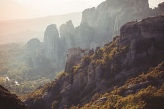 Meteors monasteries in Greece Stock Image