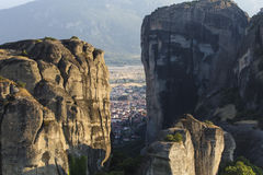Meteors monasteries in Greece Stock Photography