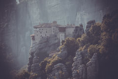 Meteors monasteries in Greece Stock Photo