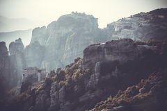 Meteors monasteries in Greece Stock Photos